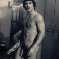 vintage gay fireman hung in locker room