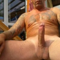 hung daddy erect
