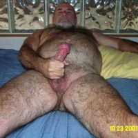 mushroom cock hairy chest big bear daddy