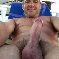 bull balls hairy bear dad erection