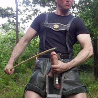german bloke woodworker wanking
