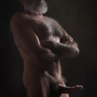 horny naked hung silver daddy beard