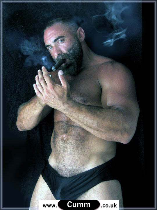 hairy chest daddy bulge