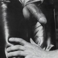 leather daddy foreskin and precum