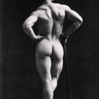 1890 male nude arse