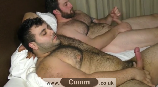 real men self-pleasure together