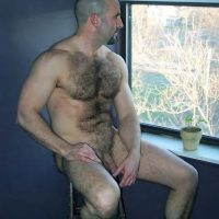 daddy nude in the window