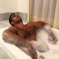 hairy turkish man naked in bath