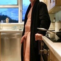 big daddy cock exposed dressing gown open