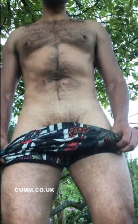 Shorts Down, Cock Out
