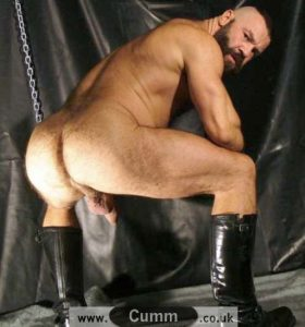 dads hairy arse black boots wanking