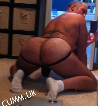 lubed jocked daddy arse