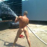 naked fireman sexy arse