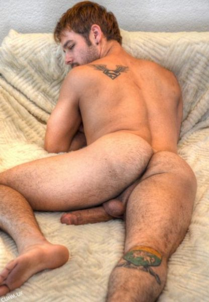 hairy arse in bed
