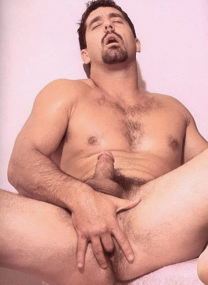 young hung hairy bear strokes his prostate